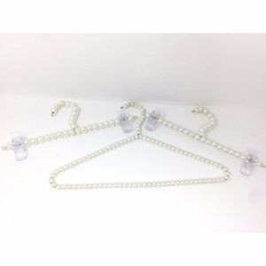 Lot of 3 White Pearl Hangers